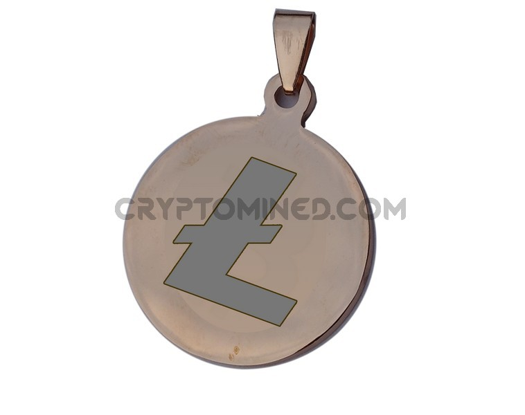 Litecoin Rose Gold QR Wallet Pendant for Necklace